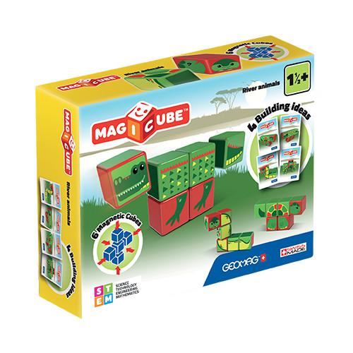 Set Constructie Magnetic Magicube Animale Marine, Geomag