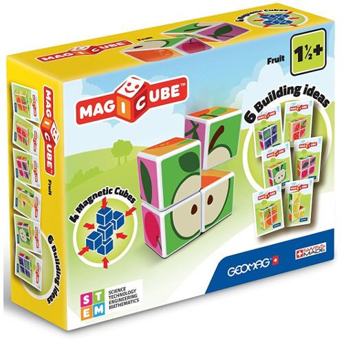 Set Constructie Magnetic Magicube Fructe, Geomag