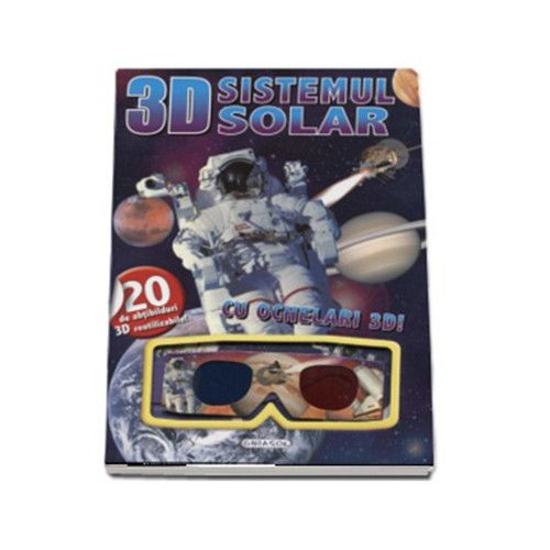 Carte 3D cu Abtibilduri Sistemul Solar, Editura Girasol