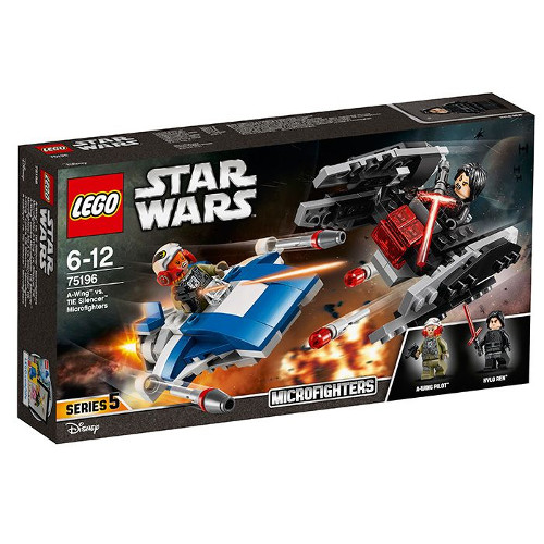 LEGO Star Wars A-Wing contra TIE Silencer Microfighters 75196, LEGO