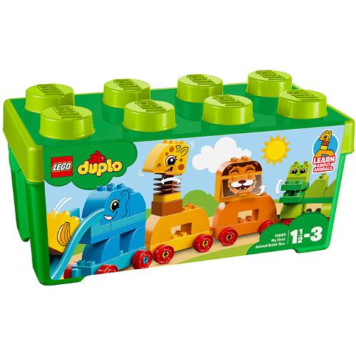 LEGO DUPLO Prima Mea Cutie de Caramizi cu Animale 10863, LEGO