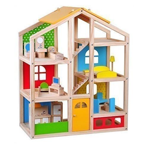 Casa pentru Papusi Mobilata Mare, Tooky Toy