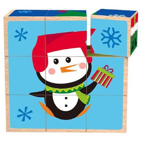 Puzzle Cuburi Craciun, Tooky Toy
