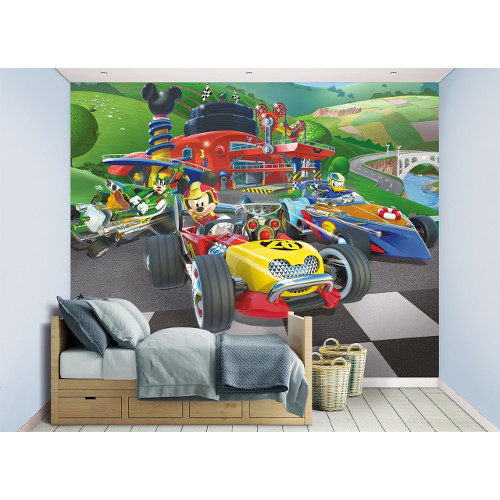 Tapet pentru Copii Mickey Mouse Roadster Racers, Walltastic