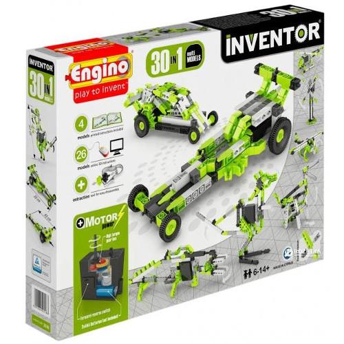 Joc de Constructie Interactiv Inventor 30 Modele Set Motorizat Modele Multiple, Engino