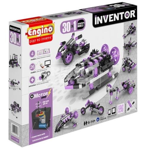 Joc de Constructie Interactiv Inventor 30 Modele Set Motorizat Modele de Aventura, Engino