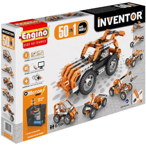 Joc de Constructie Interactiv Inventor 50 Modele Set Motorizat, Engino