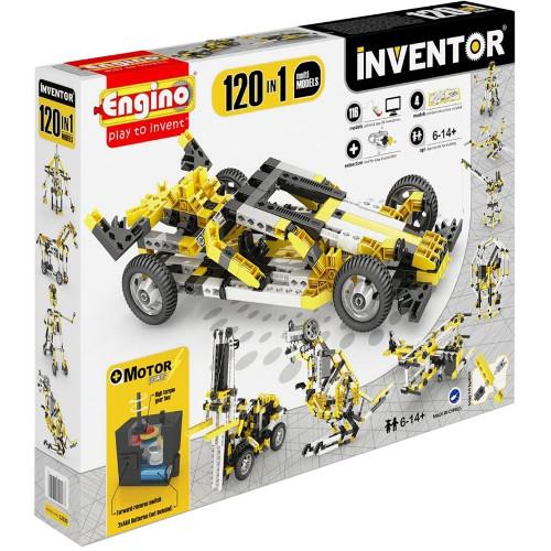 Joc de Constructie Interactiv Inventor 120 Modele Set Motorizat, Engino