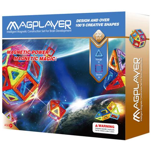 Joc de Constructie Magnetic - 30 piese, MagPlayer