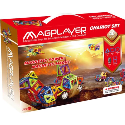Joc de Constructie Magnetic - 40 piese, MagPlayer