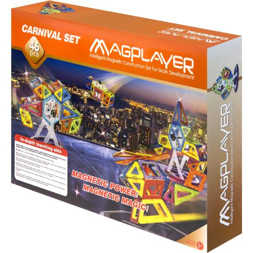Joc de Constructie Magnetic - 46 piese, MagPlayer