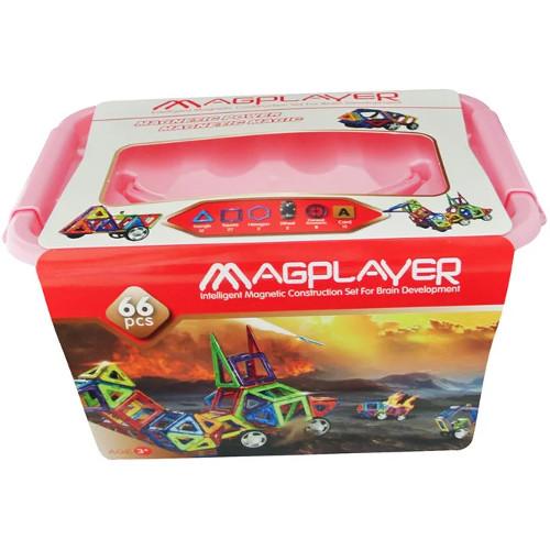 Joc de Constructie Magnetic - 66 piese, MagPlayer