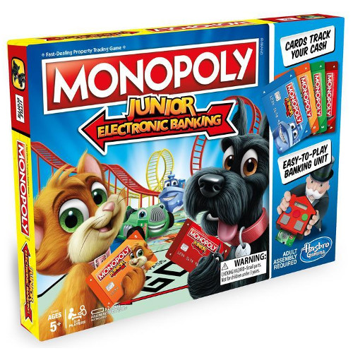 Joc de Societate Monopoly Junior Banca Electronica, Hasbro