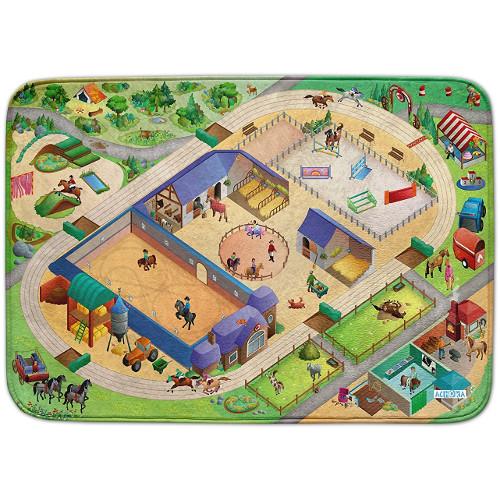 Covoras de Joaca Ultra Soft Connect Echitatie 2018, 150 x 100 cm, House of Kids