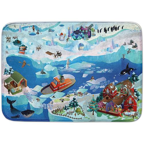 Covoras de Joaca Ultra Soft Connect Peisaj Arctic 2018, 150 x 100 cm, House of Kids
