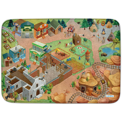 Covoras de Joaca Ultra Soft Connect Western 2018, 150 x 100 cm, House of Kids
