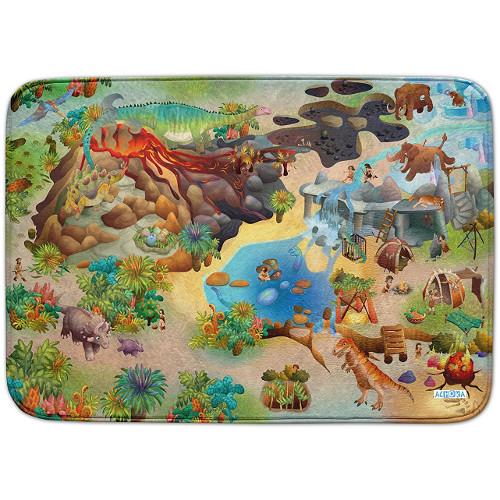 Covoras de Joaca Ultra Soft Connect Dinozauri 2018, 150 x 100 cm, House of Kids