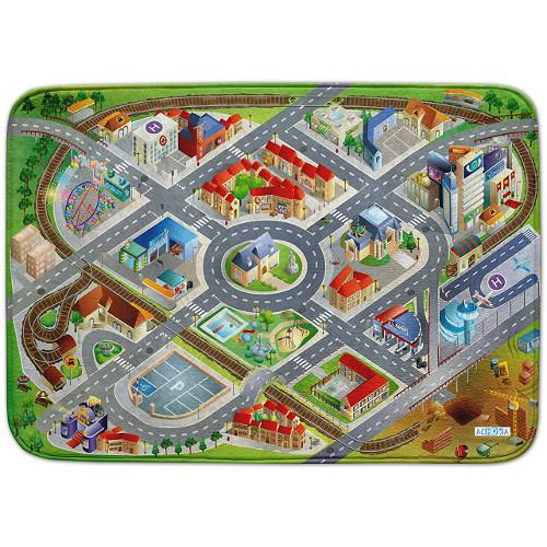 Covoras de Joaca Ultra Soft Connect District 2018, 150 x 100 cm, House of Kids