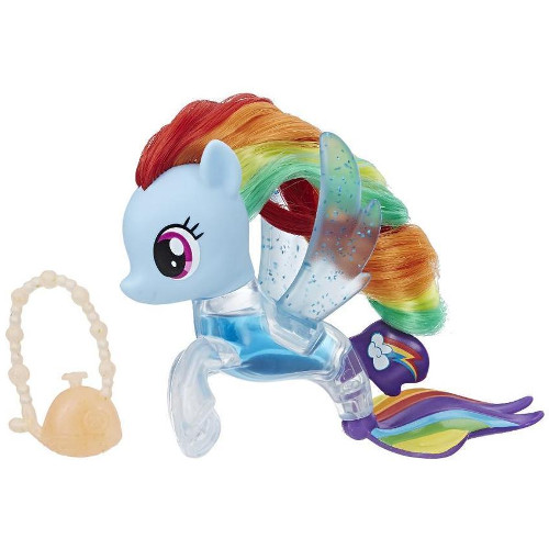 Figurina My Little Pony the Movie Rainbow Dash Flip & Flow Seapony, Hasbro