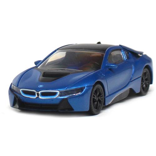 Masinuta BMW I8 Hybrid 2015, Scara 1:43, Rastar