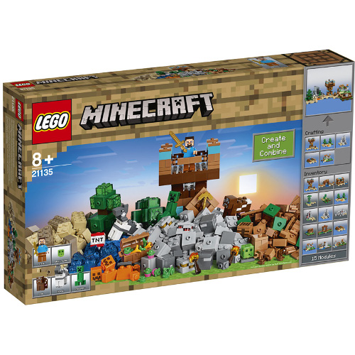LEGO Minecraft Cutie de Crafting 2.0 21135, LEGO