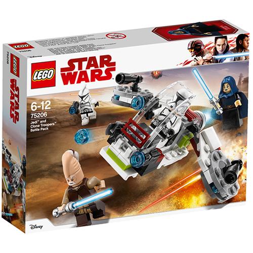 LEGO Star Wars Pachet de Lupta Jedi si Clone Troopers 75206, LEGO