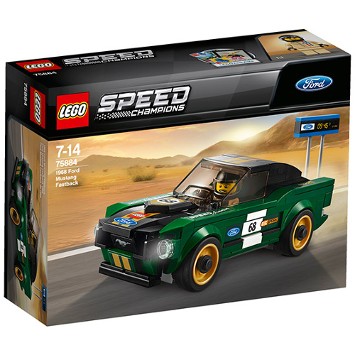 LEGO Speed Champions 1968 Ford Mustang Fastback 75884, LEGO