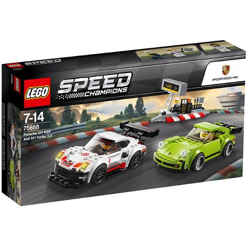 LEGO Speed Champions Porsche 911 RSR si 911 Turbo 3.0 75888, LEGO