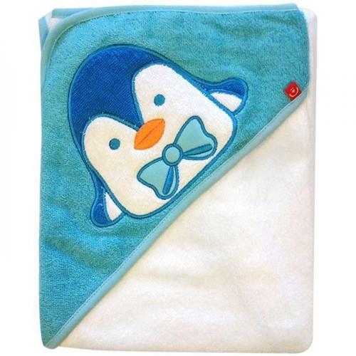 Prosop cu Capison 76x76 cm Pinguin Alb, Bobobaby