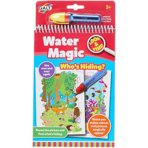 Carte de Colorat Water Magic - Ghici cine se ascunde?, Galt