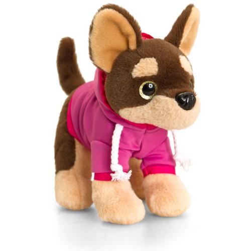 Catel de Plus Chihuahua cu Ochi Stralucitori 16 cm, Keel Toys