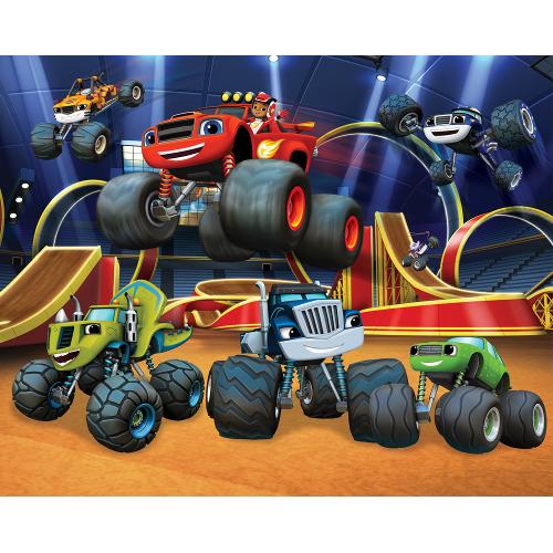 Tapet pentru Copii Blaze and the Monster Machines, 243 x 304 cm, Walltastic