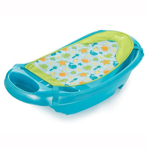 Set Cadita si Suport De Baita Splish n Splash Blue, Summer Infant
