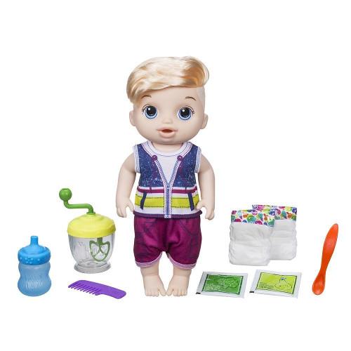 Papusa Bebelus Baietel Blond Baby Alive Sweet Spoonfuls, Hasbro