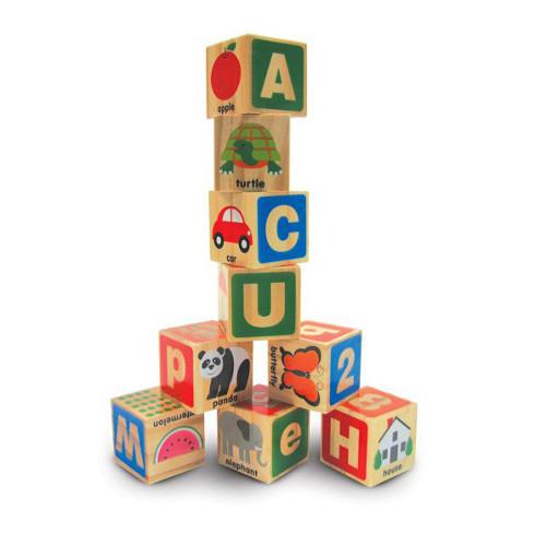 Cuburi din Lemn Alfabetul, Melissa & Doug