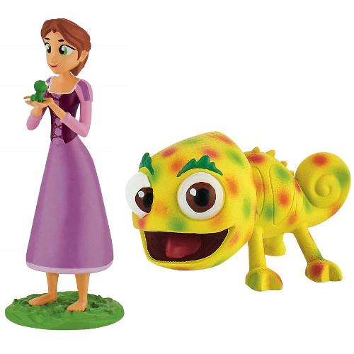 Set 2 Figurine Rapunzel cu Parul Scurt si Pascal, Bullyland