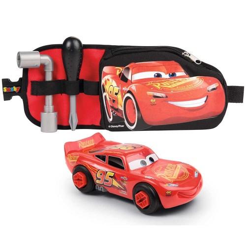 Centura Cars 3 cu Unelte si Masinuta McQueen, Smoby