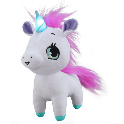 Jucarie Interactiva din Plus Wish Me Unicorn Roz cu Verde, Jay At Play