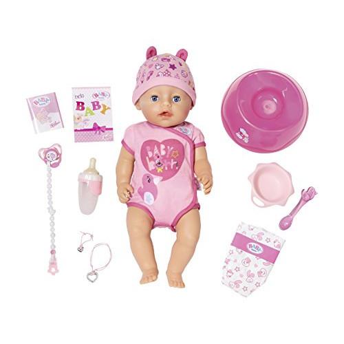 Baby Born Papusa Interactiva Fetita cu Corp Moale, Zapf