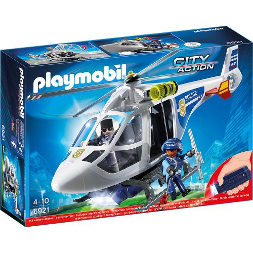 Set Playmobil City Action Elicopter de Politie cu Led, Playmobil