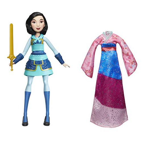 Papusa Disney Princess Mulan cu Mecanism de Rotire a Mainii si Sabie, Hasbro