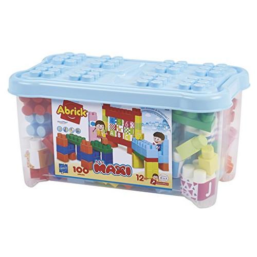 Set 100 de Cuburi pentru Construit Abrick Maxi, Ecoiffier