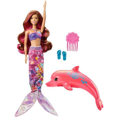 Papusa Barbie Sirena cu Delfin, Mattel