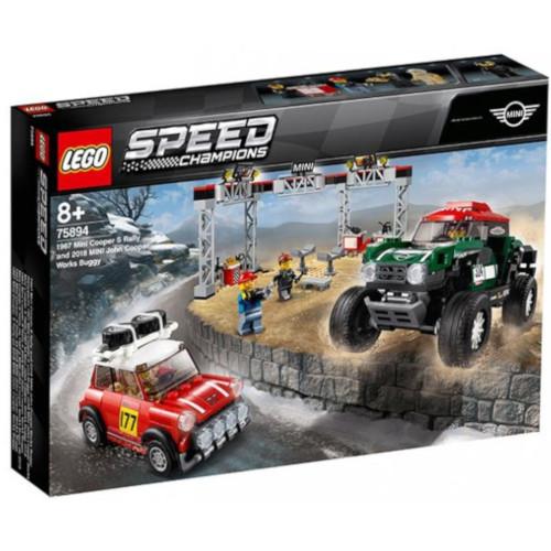 LEGO Speed Champions 1967 Mini Cooper S Rally si Automobil Sport 2018 MINI John Cooper 75894, LEGO