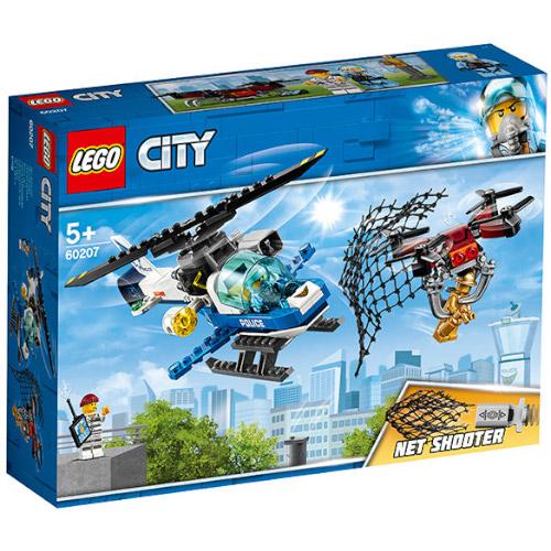 LEGO City Urmarirea cu Drona a Politiei Aeriene 60207, LEGO