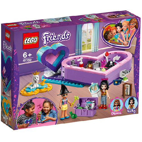 LEGO Friends Pachetul Prieteniei in Forma de Inima 41359, LEGO