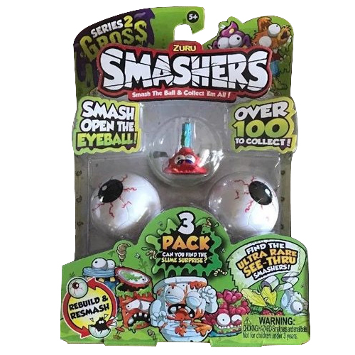 Set 3 Figurine Boggy Brush in Mingiute Smashers Ochi, Zuru