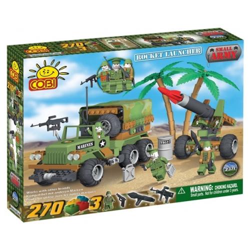 Set de Construit Lansator Rachete si Camion Infanterie Marina, Cobi