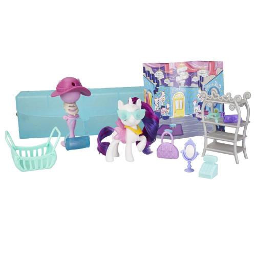 Set de Joaca My Little Pony On-the-Go - Poneiul Rarity in Posetuta, Hasbro