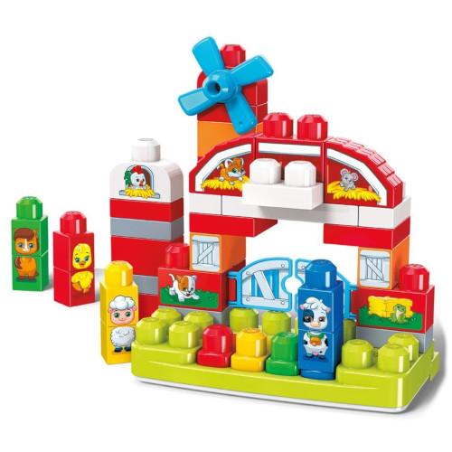 Set Constructie cu Cuburi Ferma Muzicala Mega Bloks, Mattel